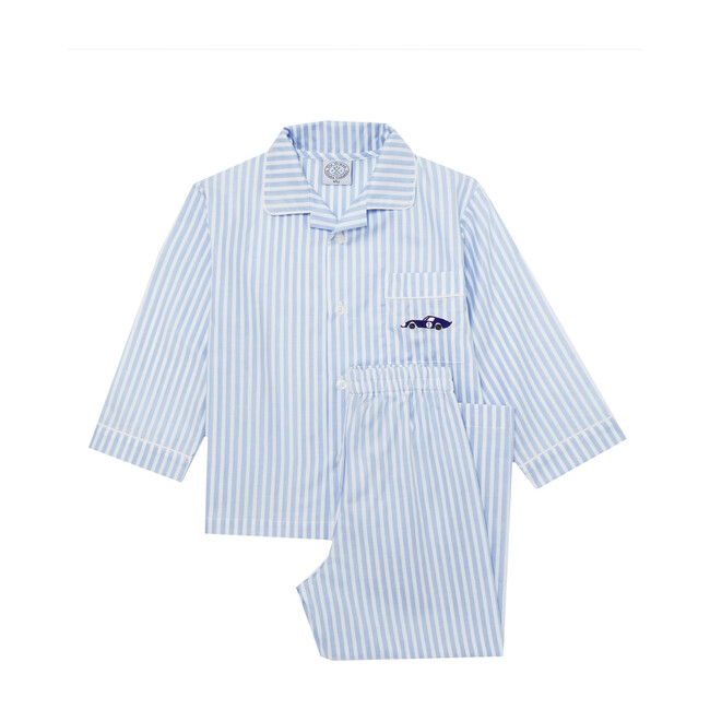 Sebastian Pajamas, Pale Blue Stripe & Sebastian