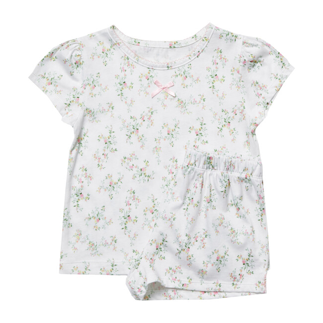 Clara Jersey Pajamas, Pink Ditsy