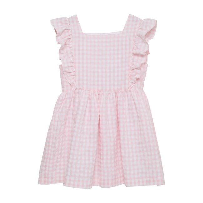 Lula Ruffle Dress, Pink Gingham