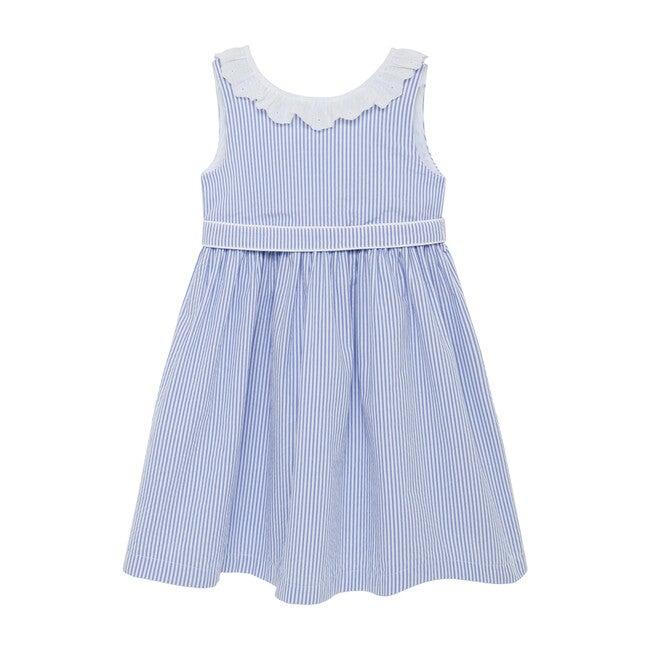 Chloe Anglaise Dress, Blue Stripe