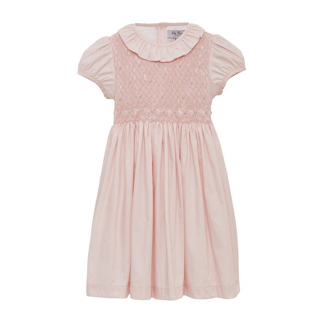 Willow Rose Hand Smocked Dress, Pink