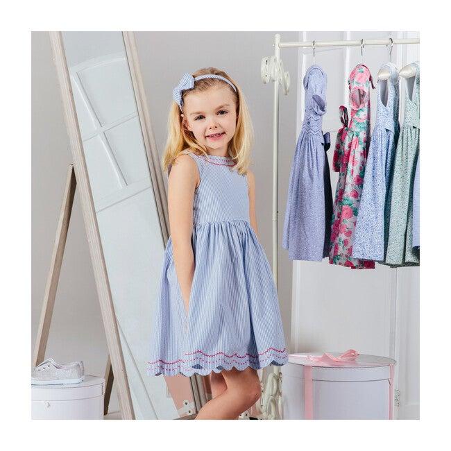 Molly Dress, Blue Stripe