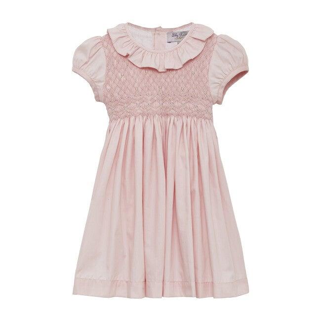 Toddler Willow Rose Hand Smocked Dress, Pink