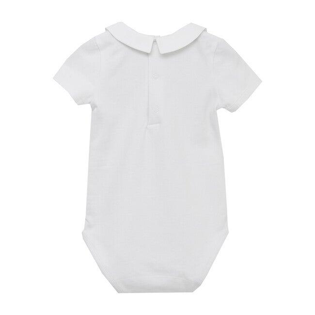 Monty Augustus Short Sleeve Bodysuit, White