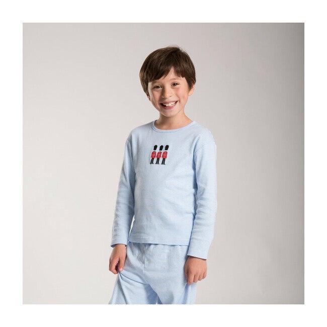 Marcus Jersey Pajamas, Blue Stripe