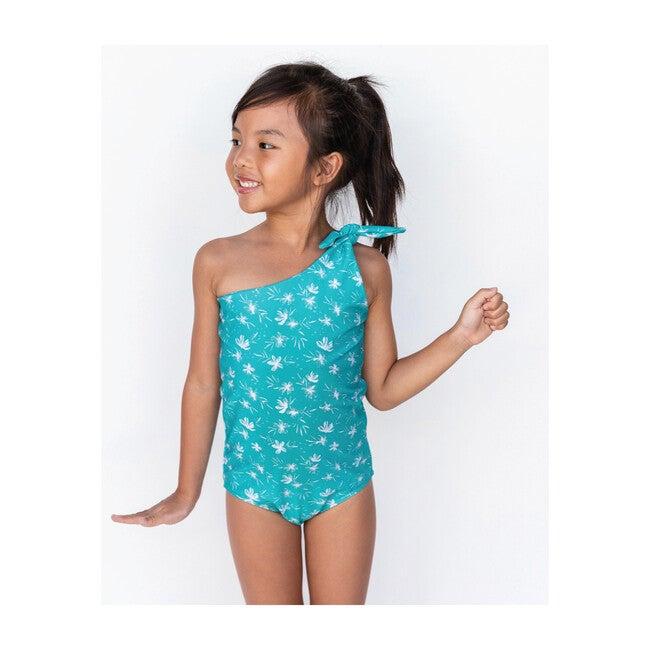 Girl's Asymmetrical One Piece, Ocean Blossom