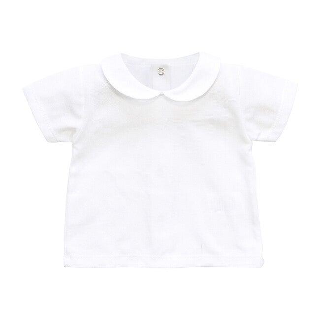 Peter Pan Collared Shirt, White