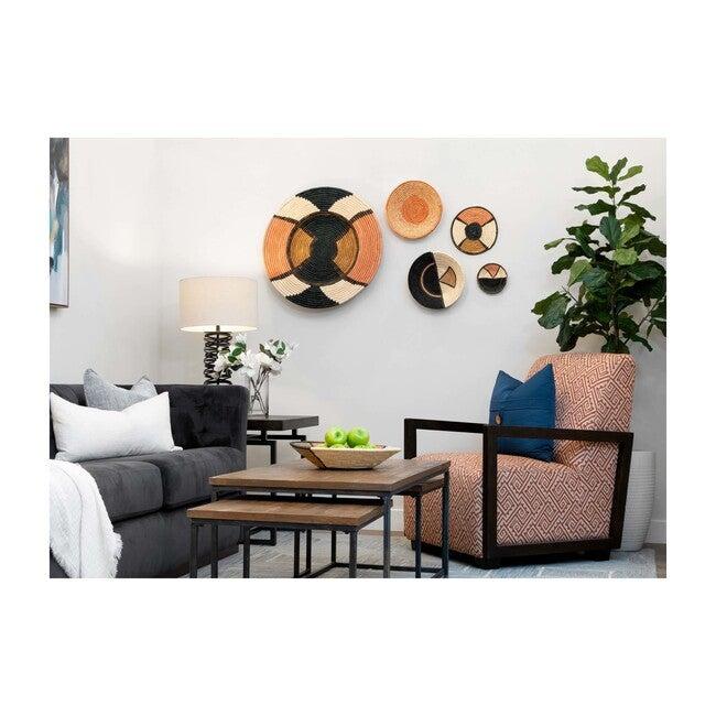 """27"""" XL Woven Wall Plate Decor, Tabia Peach"""