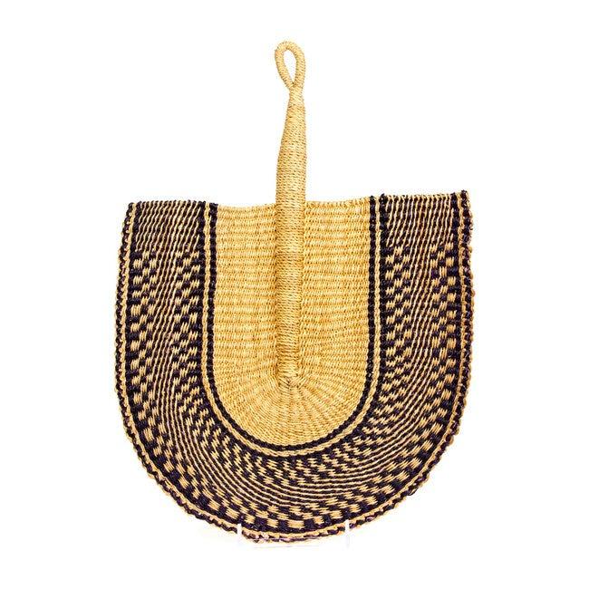 Assorted Handmade Ghanian Fan, Navy
