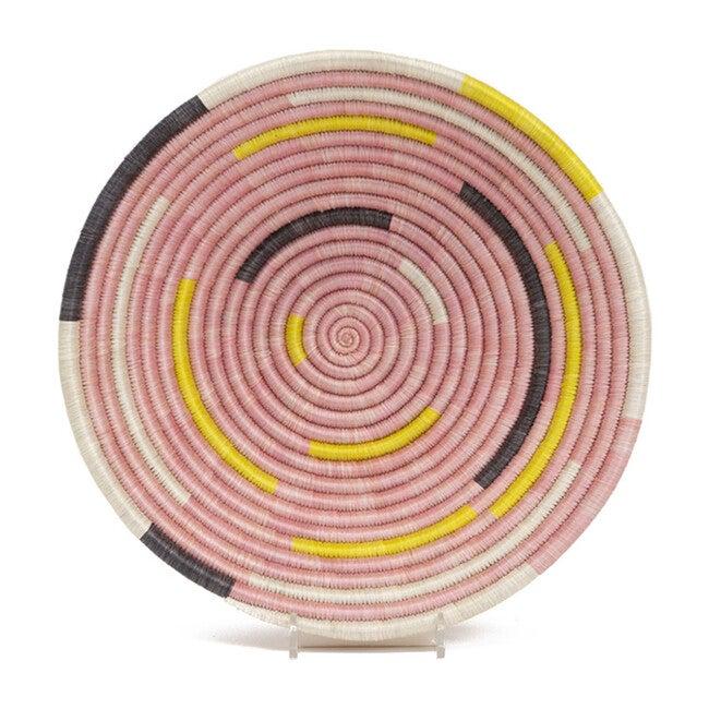 """10"""" Medium Spiral Basket, Pale Blush"""