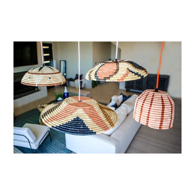 Large Shades of Sand Pendant Lamp, Multi