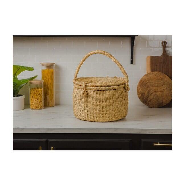 Handwoven Picnic Basket, Natural