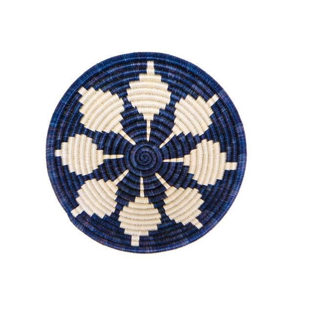 "10"" Medium Round Basket, Blue Night"