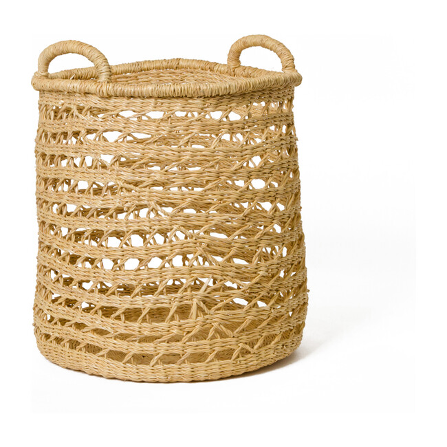 Lace Storage Basket, Natural