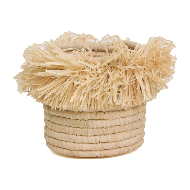 """5"""" Small Fringed Catchall, Natural"""
