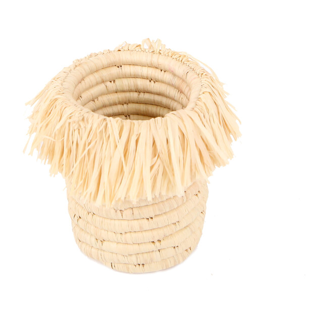 Fringed Brush/Pencil Cup, Natural