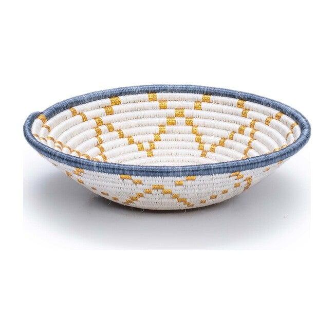 """10"""" Medium Hope Round Basket, Metallic Gold"""