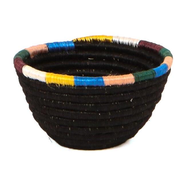 Tiny Handwoven Catchall, Black/Neon Multi