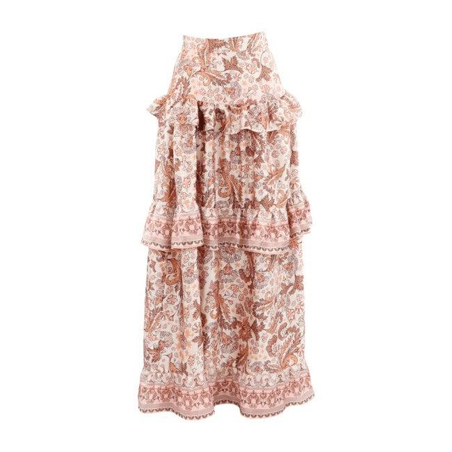 Women's Rosea Iran Long Skirt, Pink