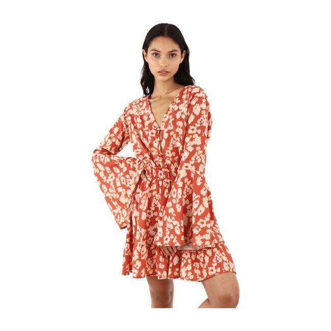 Women's Amazonia Ankara Short Dress, Red