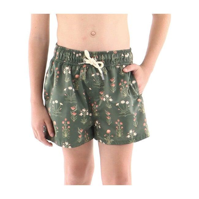 Primavera Cano Boy Swim Short, Green