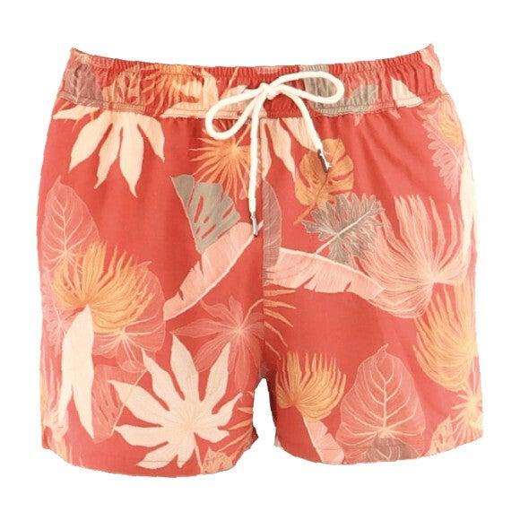 Amazonia Cano Boy Swim Short, Red