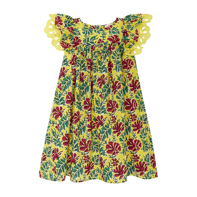 Freesia Short Dress, Yellow
