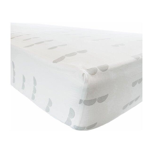Organic Abacus Crib Sheet, Light Gray