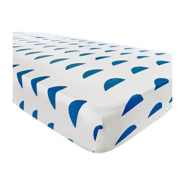 Organic Half Moon Crib Sheet, Ocean