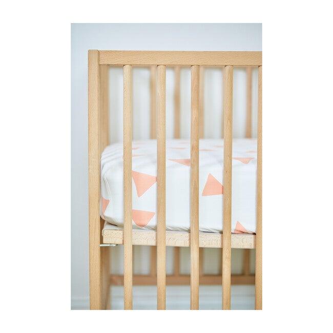 Organic Triangle Crib Sheet, Blush