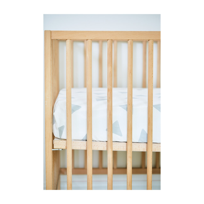 Organic Triangle Crib Sheet, Light Gray