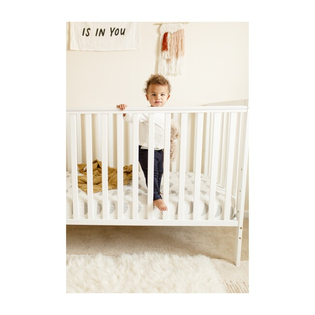 Organic Half Moon Crib Sheet, Light Gray