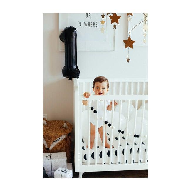 Organic Half Moon Crib Sheet, Night Black