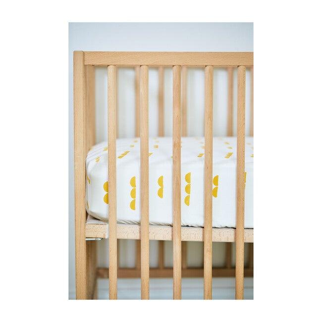 Organic Abacus Crib Sheet, Mustard Gold