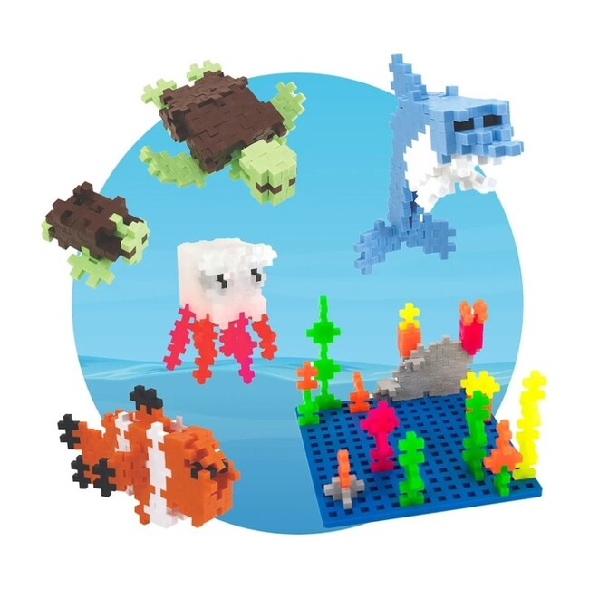 Building Toy Set Aquatic Bundle with Baseplate Builder