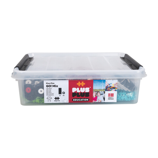 2600 piece Educational Tub with 10 Baseplates and 40 Wheels