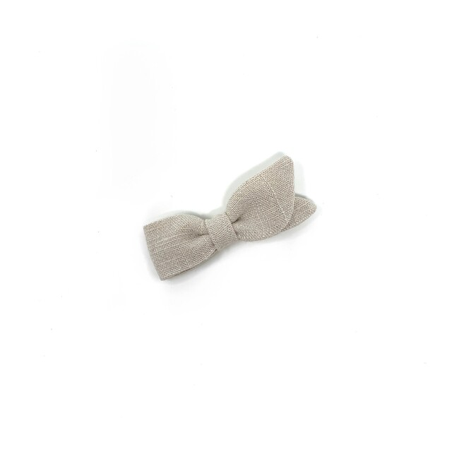 Petal Bow Clip, Oyster