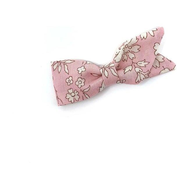 Petal Bow Clip, Liberty Baby Pink Floral