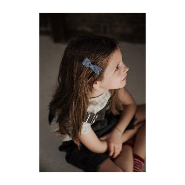 Petal Bow Clip, Blue
