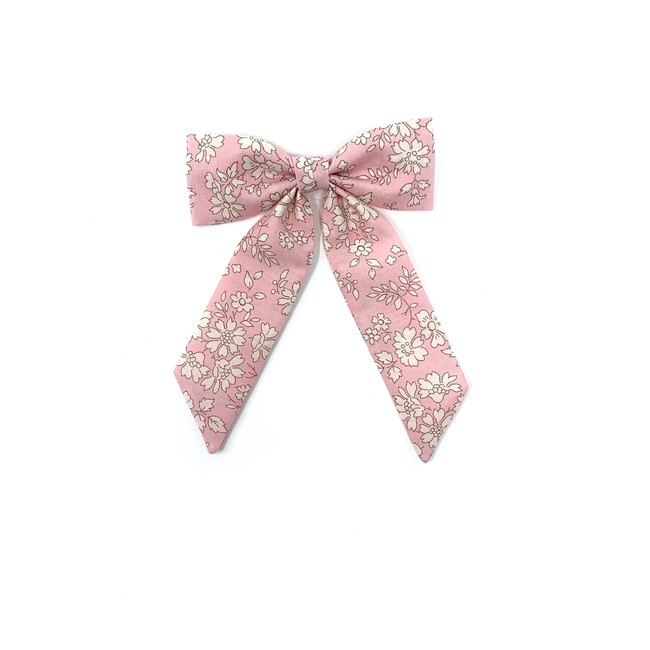 Classic Bow Clip, Liberty Baby Pink Floral