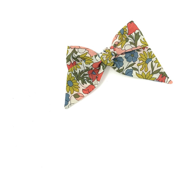 Baby Tied Bow Clip, Liberty Mixed Floral
