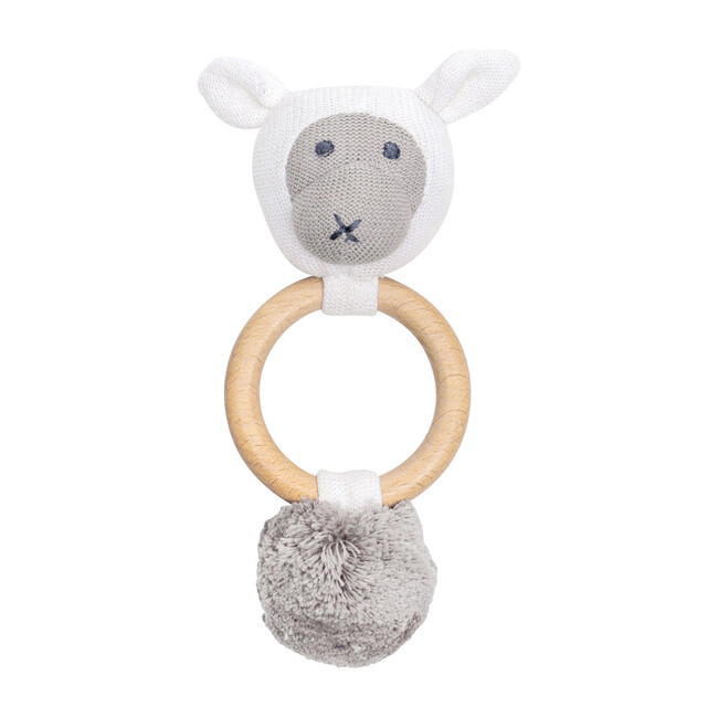 Organic Cotton Sheep Rattle