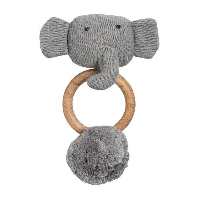 Organic Cotton Elephant Rattle