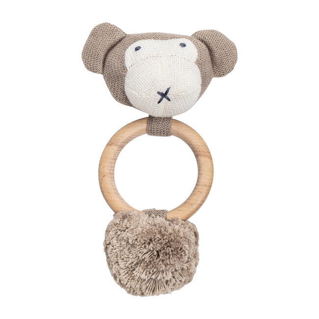 Organic Cotton Monkey Rattle