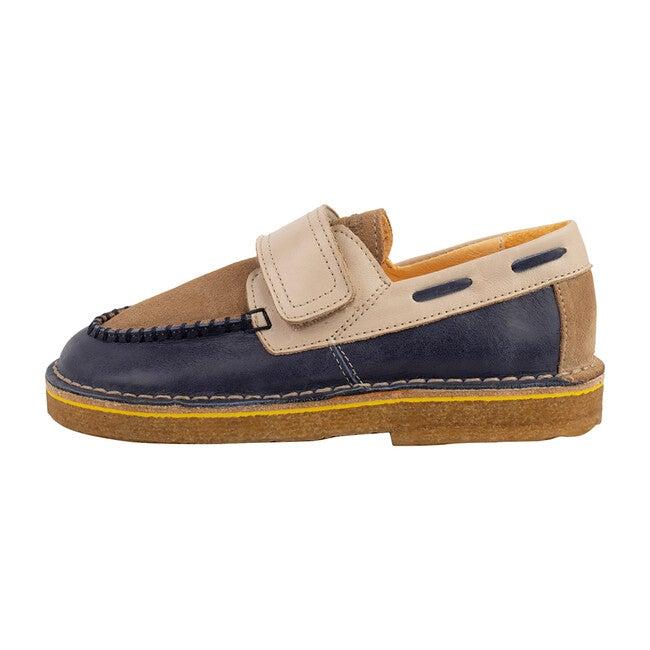 Navy & Cream Strap Boat Shoe