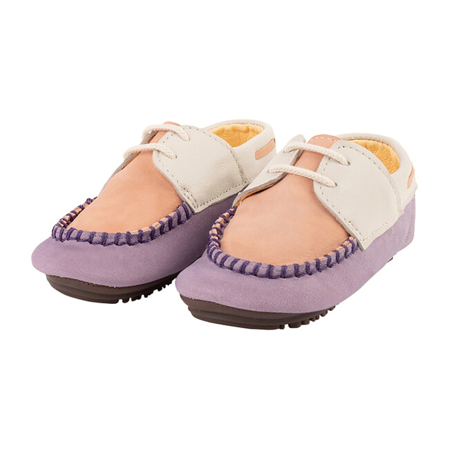 Violet & Peach Boat Shoe