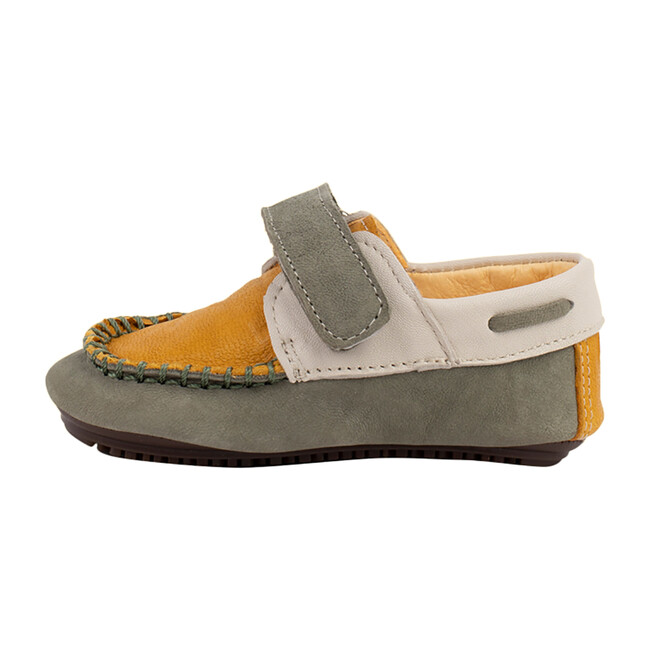 Mustard & Green Strap Boat Shoe - Loafers - 1
