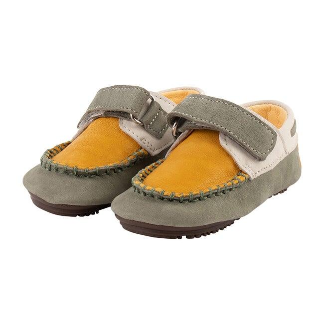 Mustard & Green Strap Boat Shoe