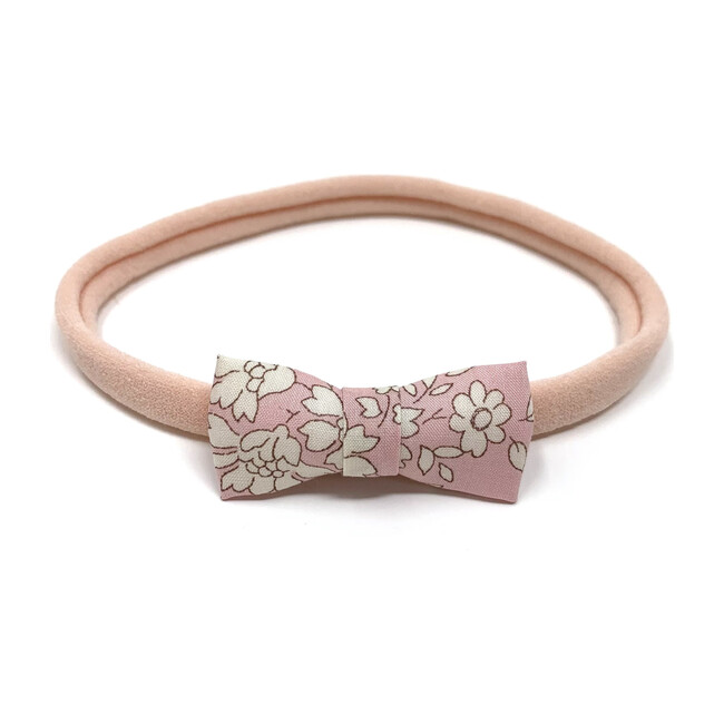 Itty Bitty Bow Baby Headband, Liberty Baby Pink Floral
