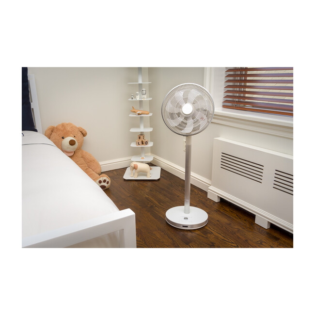 Flow by Objecto F5 Pedestal Fan, White